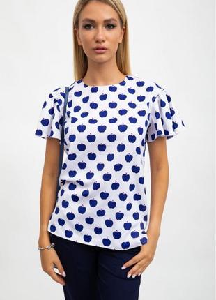 Красивая женская футболка белого цвета 100%хлопок