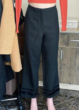 Льняные широкие брюки gunex