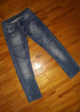 Джинси armani jeans світло-сині джинсові штани брюки