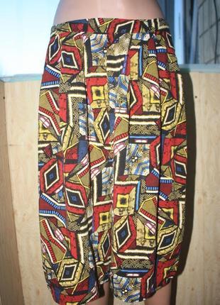 Стильные яркие лёгкие широкие шорты кюлоты батал