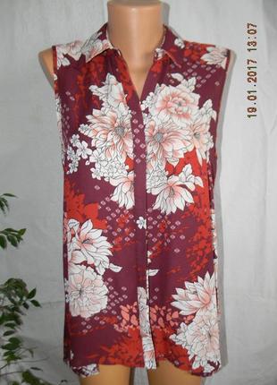 Блуза новая с цветочным принтом dorothy perkins