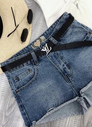 Шорты джинсовые на высокой посадке boohoo