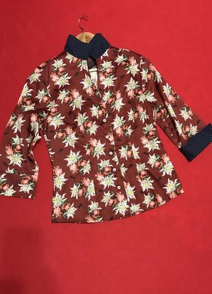 Цветочная блуза из хлопка