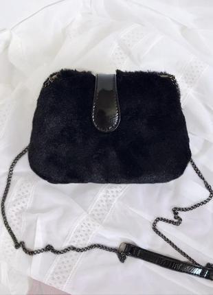 Сумочка stradivarius / черная сумка / через плечо