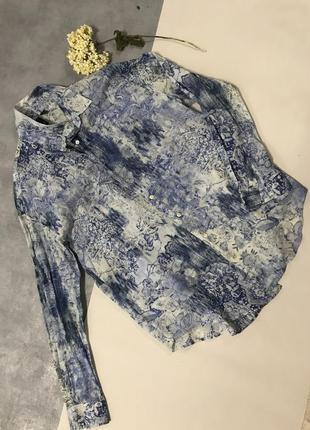 Легкая летняя рубашка mango оверсайз коттон