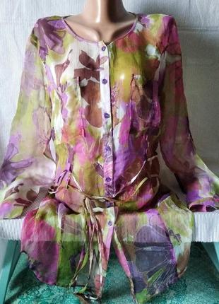 Сорочка-жатка довга прозора  sanmartino