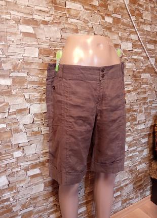 Нидерладский бренд,шикарные,льняные шорты,бриджи,капри,шортики из льна