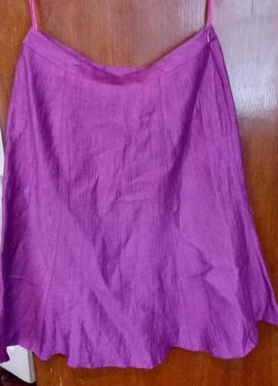 100% лён,eastex since 1951 юбка цвет фуксии,акция 1+1=3