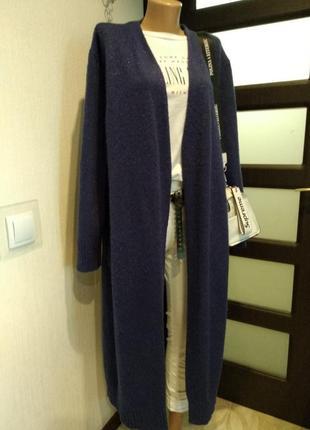 Стильный длинный теплый кардиган кофта пиджак жакет