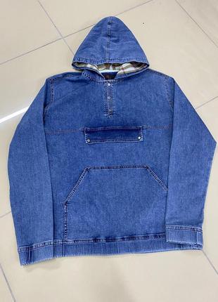 Джинсова куртка-худі
