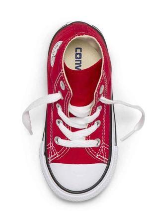 Converse красные кеды для девочки мальчика оригинал короткие 20 размер 11.5 см