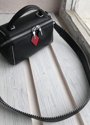 Женская кожаная сумка бочонок через на плечо  polina & eiterou полина