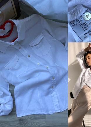 Рубашка 100% лён h&m m