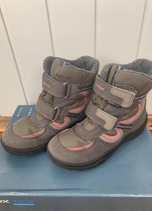 Зимние ботинки geox 31 размер -20,6 см/сапоги термоботинки