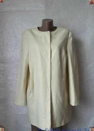 Фирменный dunnes кардиган/удлинённый пиджак на 60% хлопок в лимонном цвете, размер 2хл