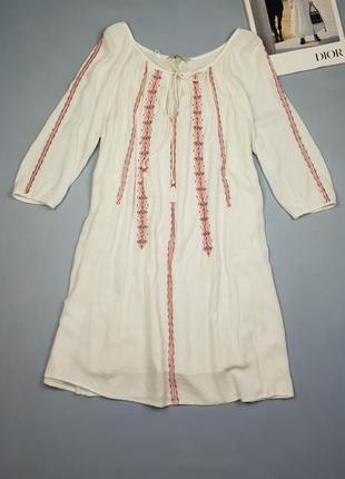 Натуральное платье с вышивкой next p.8