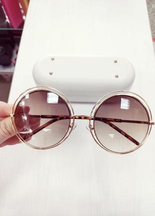 Красивые большие круглые очки в стиле marc jacobs