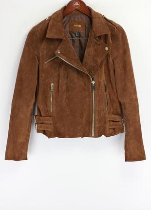 Брендовая кожаная куртка косуха в стиле zara
