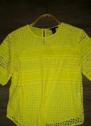 Яркая хлопковая блуза h&м