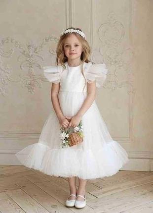 Нарядное платье для девочки (размер 104-134)