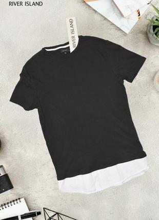 Черная футболка с хлопковым низом river island