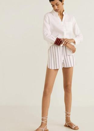 Шорты с принтом, полосатые шорты, шорти літні, шорти полосаті.