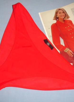 Низ от купальника раздельного женские плавки размер 52-54 / 18 красные бикини однотонные