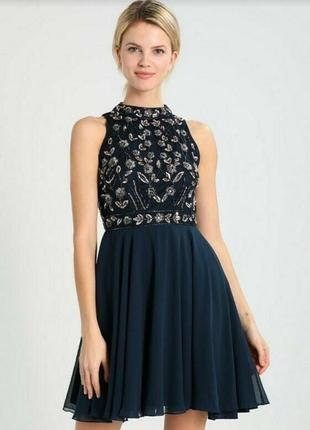 Платье вышитое бисером lace&beads