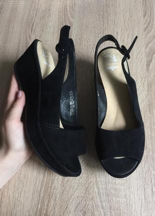 Freeflex pedag lady gel 37 р кожа босоножки шлепки туфли  босоніжки