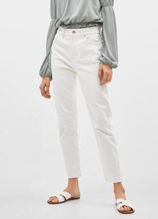Новые трендовые белые джинсы мом от bershka