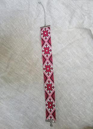 Чокер с орнаментом. можно носить и как браслет