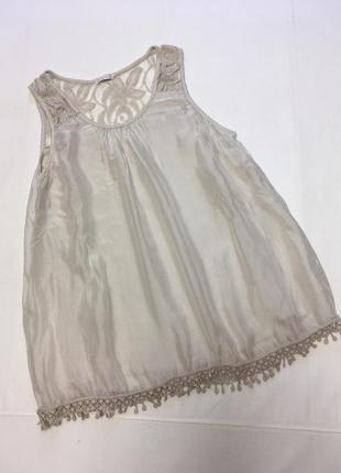 Майка-блуза с гипюром