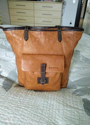 Стильная итальянская сумка 100% натуральная кожа