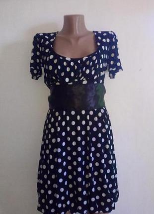 Шифонове плаття в горошок(шифоновое платье в горошек)