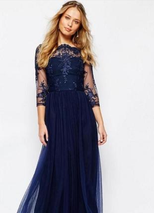 Платье макси в пол chi chi london