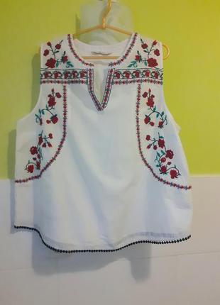 Белая рубашка с вышивкой вышиванка tu