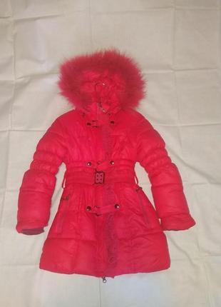 Зимнее пальто - пуховик для девочки