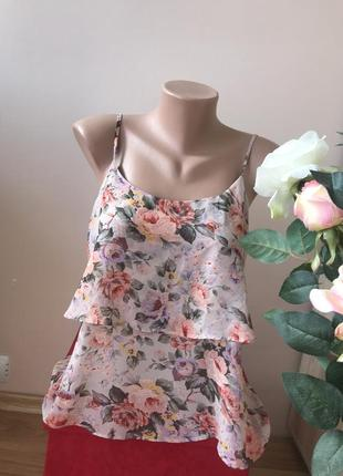 Квіткова ніжна майка топ