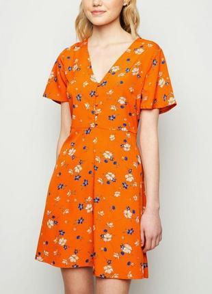 Платье в цветочном принте нс new look