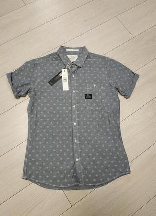 Рубашка мужская короткий рукав cross, размер м