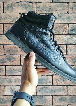 Оригінальні шкіряні зимові кросівки черевики lacoste