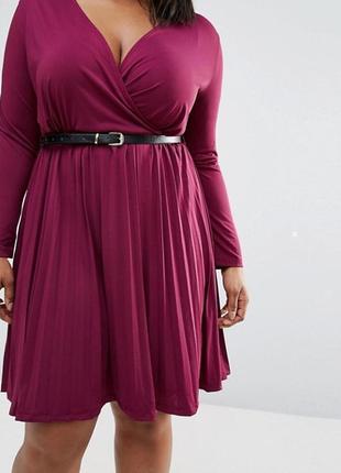 Сливовое платье миди на запах батал praslin asos a1100 asos asos