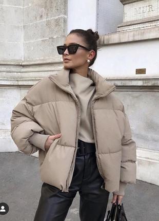 Куртка бомбер зимняя- демисезонная оверсайз zara