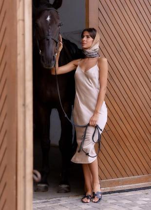 Шёлковое платье-комбинация в бельевом стиле, много цветов