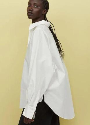Рубашка из 100% хлопка h&m premium quality