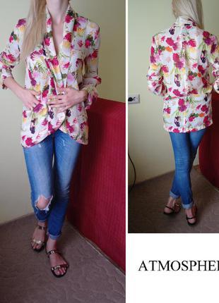 Цветочный блейзер пиджак жакет