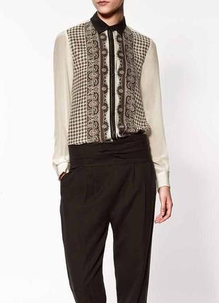 Шелковая блуза zara  р. м
