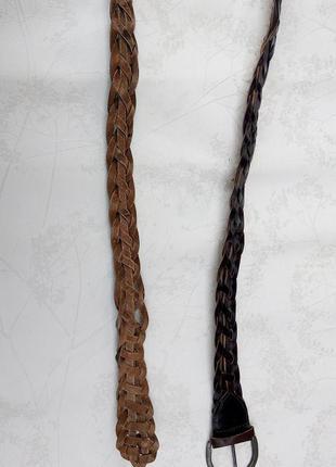 Ремень плетеный натуральная кожа  р.115/46 bonaparte