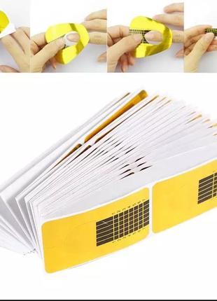Бумажные формы для наращивания ногтей гелем 10 штук