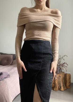 Кофта со спущенными плечами *